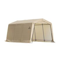 10 ft. X 15 ft. x 8 ft. Tan Cover Auto Shelter