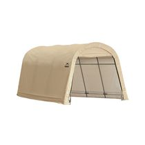 10 x 15 x 8 ft. Auto Shelter, Round Style, Sandstone Cover