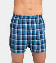 Fruit of the Loom Men's Tartan Plaids Boxer Shorts, 5-Pack L/G