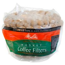 Melitta Basket Coffee Filters - Natural Brown - 100 Filters, 10-12 cups