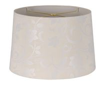 "15"" Cream Floral Jacquard Shade"