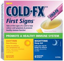 COLD-FX First Signs Daytime and Nighttime, Natural Lemon Flavour