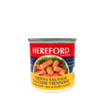 Hereford Vienna Sausages in Chicken Broth