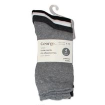 George Ladies' Crew Socks - Pack of 4 Grey