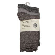 George Ladies' Crew Socks - Pack of 4 Brown