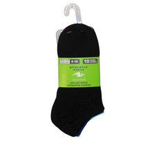 Athletic Works Ladies' No Show Socks - Pack of 10 Black