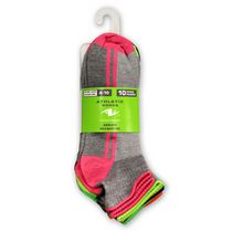 Athletic Works Ladies' Quarter Socks - Pack of 10 Gray