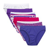Fruit of the Loom Ladies' Cotton Bikini Panties, 6-Pack 6