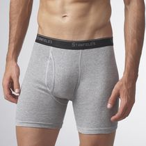 Stanfield's Men's Essentials Boxer Briefs, Pack of 2 Grey Large