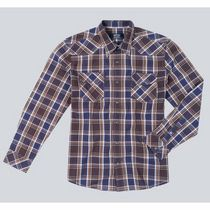 Signature by Levi Strauss & Co. Men's Long Sleeve Western Plaid Shirt Purple Medium
