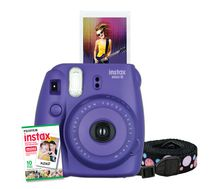 Fujifilm Instax Mini 8 Camera with 10 Exposures & Strap Grape