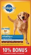 PEDIGREE VITALITY+® Dry Food For Adult Dogs in Original Flavour