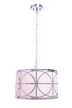 hometrends 16-inch Chrome Lattice Drum Pendant Light