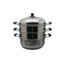 Sunwealth 30 cm Stainless Steel 3-Tier Steamer