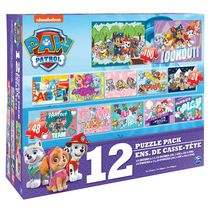 Paw Patrol 12 Puzzle Pack - Girls