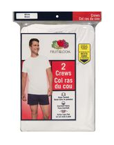 T-shirt à encolure ronde de Fruit of the Loom pour hommes - paq. de 2 G