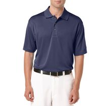 Ben Hogan Men's Golf Performance Solid Textured Short Sleeve Polo Shirt Peacoat S