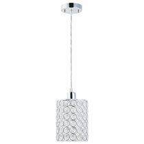 Globe Electric 65211  luminaire supendu 1 lumiere 8'' en maiile de chrome et crystaux