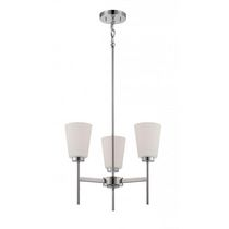 Bronson 3-Light Polished Nickel Candle-Arm Chandelier