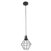 Globe Electric 65216 1 Light Vintage Mini Pendant Light, Matt Black Finish