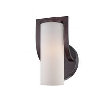 Dynamic 1-Light Russet Bronze Downlight Sconce