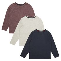 George British Design Boys' 3 Pack Marl Long Sleeve T Shirt 10