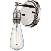 Commerce 1-Light Polished Nickel Downlight Sconce
