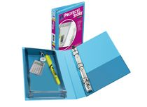"Protect & Store Binder, 5-1/2"" x 8-1/2"", Blue"