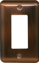 Atron Electro Industries Elite Antique Copper Rocker Wall Plate