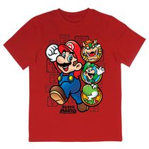 Super Mario Boys' Short Sleeve T-Shirt 6X