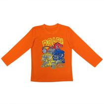 Dino Trux Toddler Boys' Long Sleeves Crew Neck T-Shirt 3T