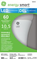 GE energy smart® General Purpose 10.5 Watts LED A19 Bulb - 60 Watt Replacement