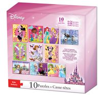 Disney Girl's Puzzles, Pack of 10