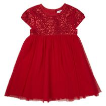 George Toddler Girls' British Design Red Occasion Dress 3T