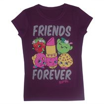 Shopkins Girls Short Sleeve Tee S 7/8