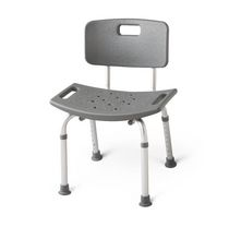 Medline Aluminum Back Bath Bench