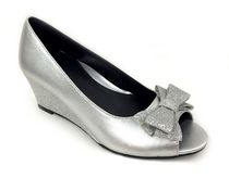 George Toddler Girls' Chloe Wedge Heel Shoes Silver 12