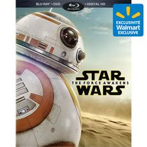 Star Wars: The Force Awakens (Blu-ray + DVD + Blu-ray Bonus + Digital HD) (Walmart Exclusive BB-8 Packaging + Star Wars Galactic Connexions Trading Disc)