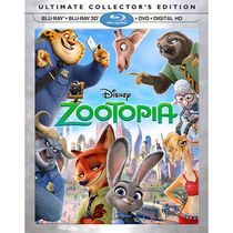 Zootopia (Ultimate Collector's Edition) (Blu-ray 3D + Blu-ray + DVD + Digital HD)