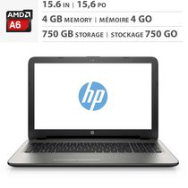 "HP 15.6"" Laptop with  AMD Quad-Core A6 Processor - 15-af049ca"