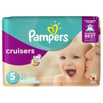 Couches Pampers Cruisers, format Jumbo
