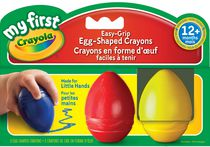 Crayola My First Easy-grip Egg-Shaped Crayons