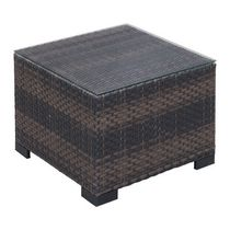 Zuo Modern Outdoor 1-Piece Synthetic Weave Brown Bocagrande Coffee Table