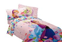 "Disneys Frozen Floral ""Breeze Into Spring"" Reversible Comforter"