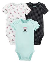 Child of Mine Made by Carter's Girls' Owl Bodysuits, Pack of 3 3-6 months
