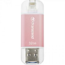 Clé USB de 32 Go JetDrive Go 300 de Transcend pour iPhone/iPad en rose or
