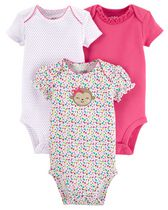 Child of mine made by Carter's Girls' Monkey Bodysuits, Pack of 3 18M
