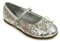 George Girls' Viv Dress Shoes Silver 5
