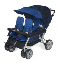 Foundations 4 Passenger Stroller Blue