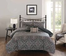 hometrends Damask 5 Pieces Comforter Set - King